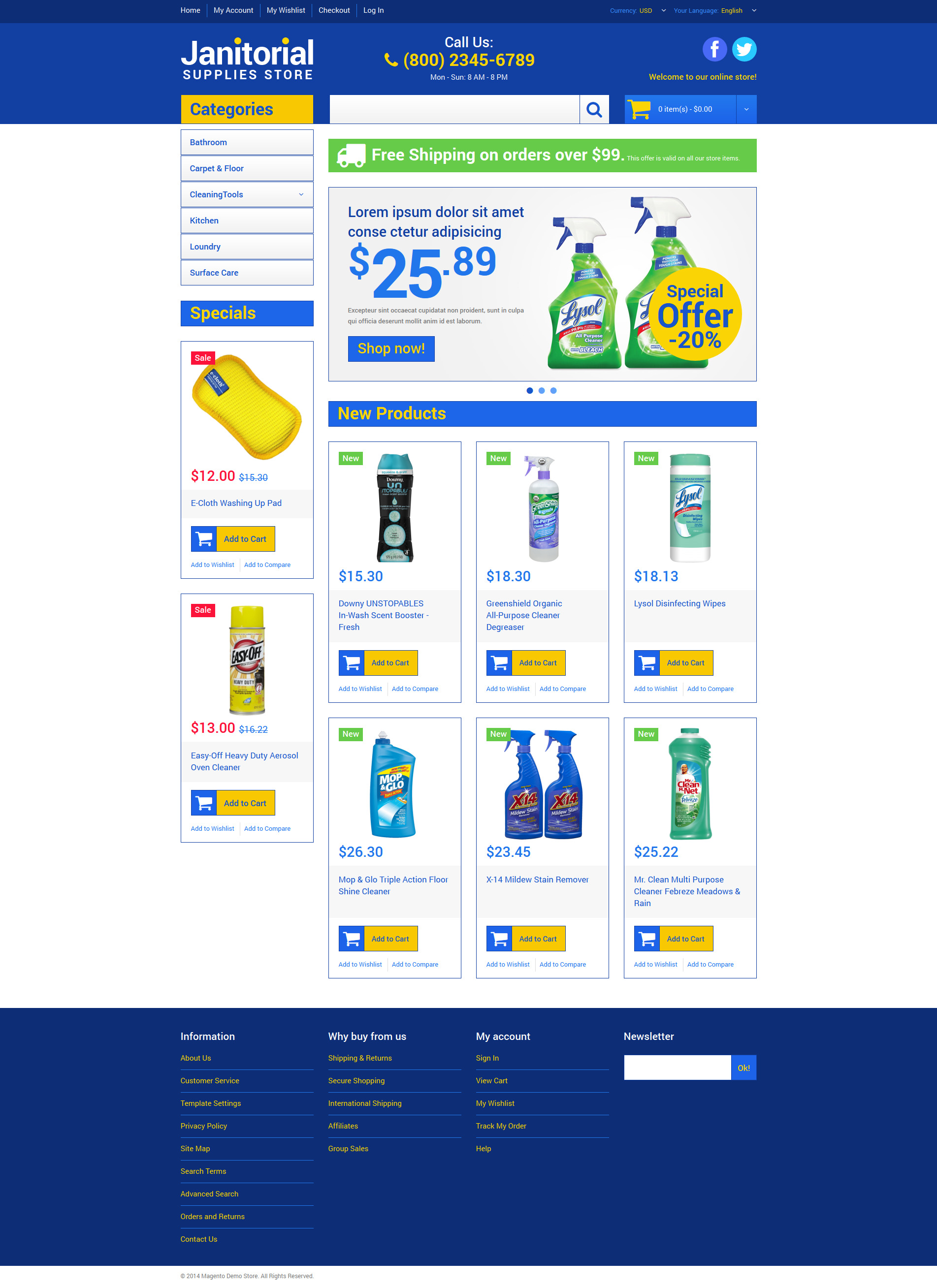 Cleaning Supplies Store Magento Theme - screenshot