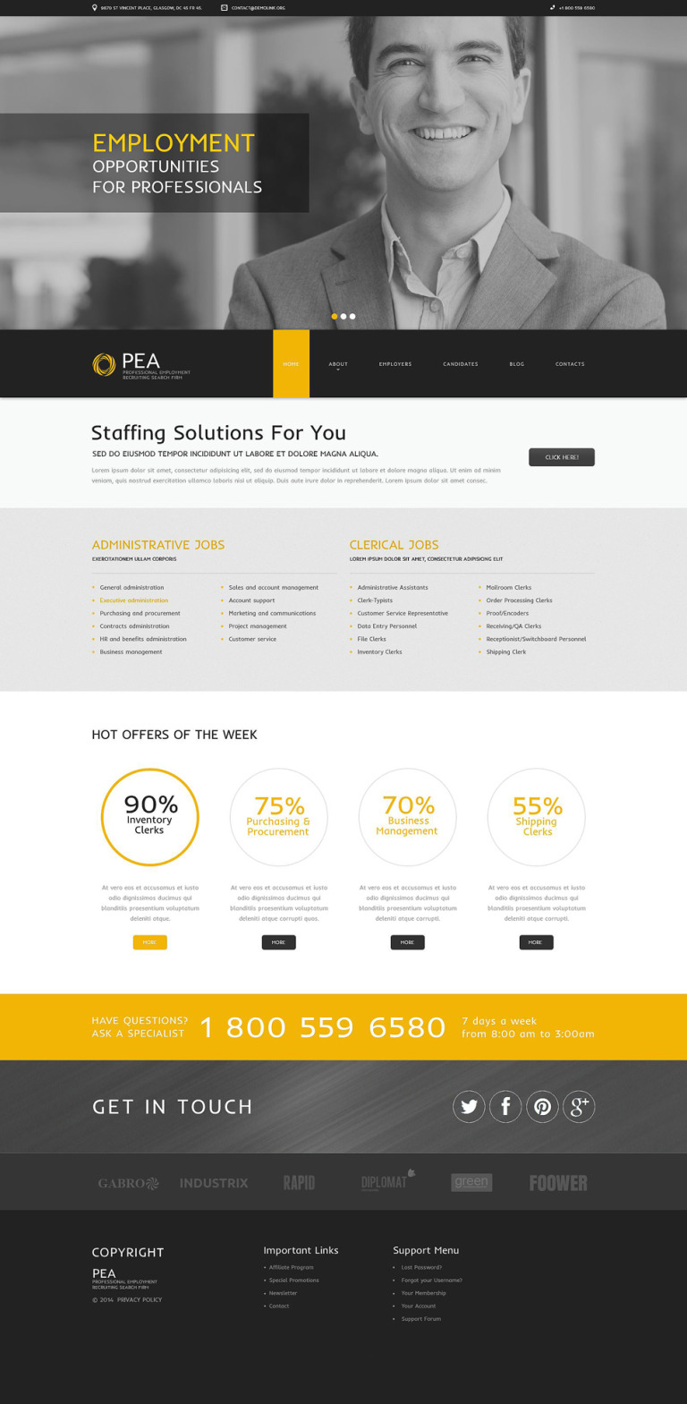 Company Staff Expansion Drupal Template New Screenshots BIG