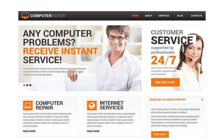 Computer Repair Services Drupal Template