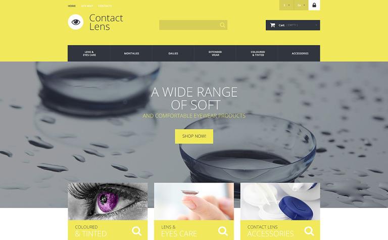 Contact Lens Technology PrestaShop Theme