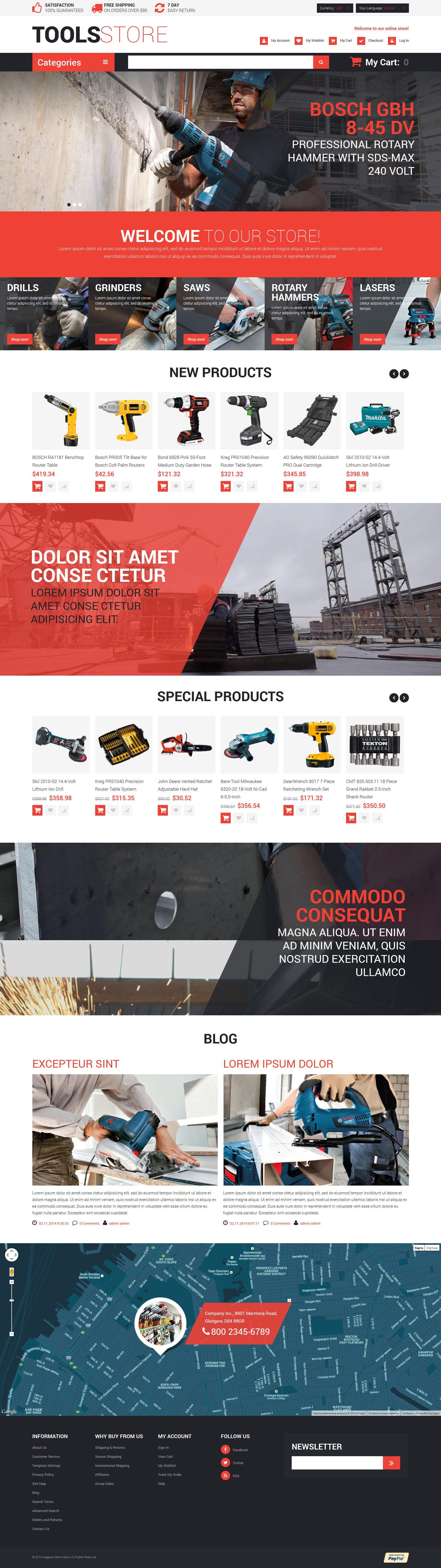 Contractor Tools Magento Theme - screenshot