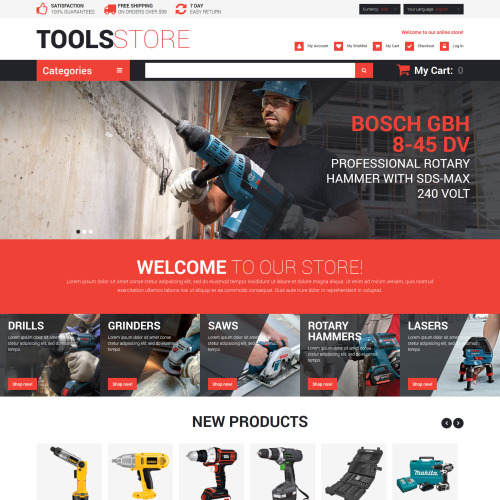 Tools Store - Magento Template based on Bootstrap