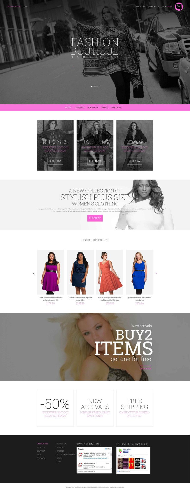 Curvy Fashion VirtueMart Template New Screenshots BIG