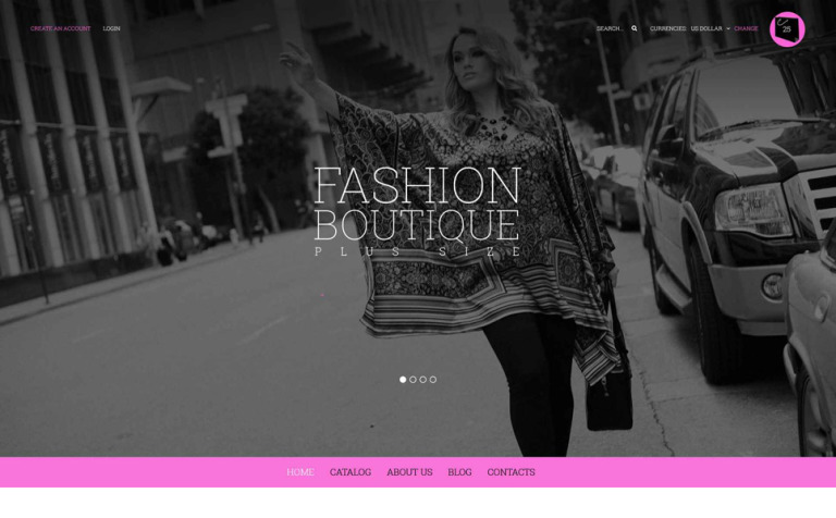 Curvy Fashion VirtueMart Template #52155