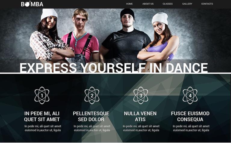 Dance Studio Responsive Website Template