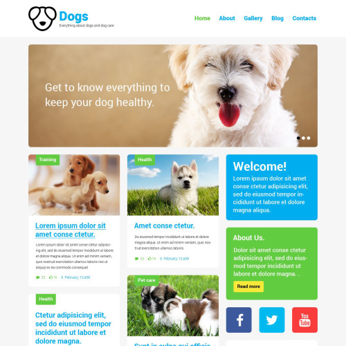 Dogs - WordPress Template based on Bootstrap