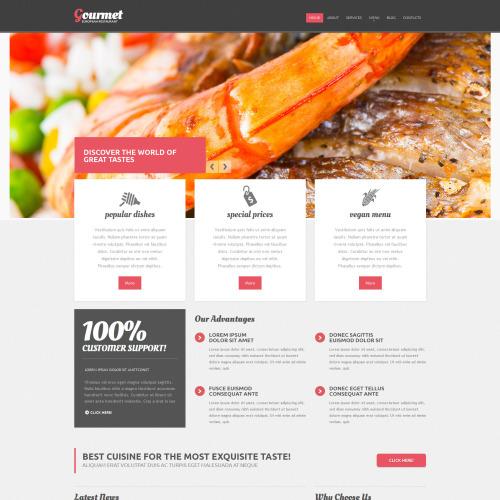 Gourmet - Responsive Drupal Template