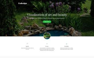 Exdesign - Exterior Design Multipage Creative Joomla Template