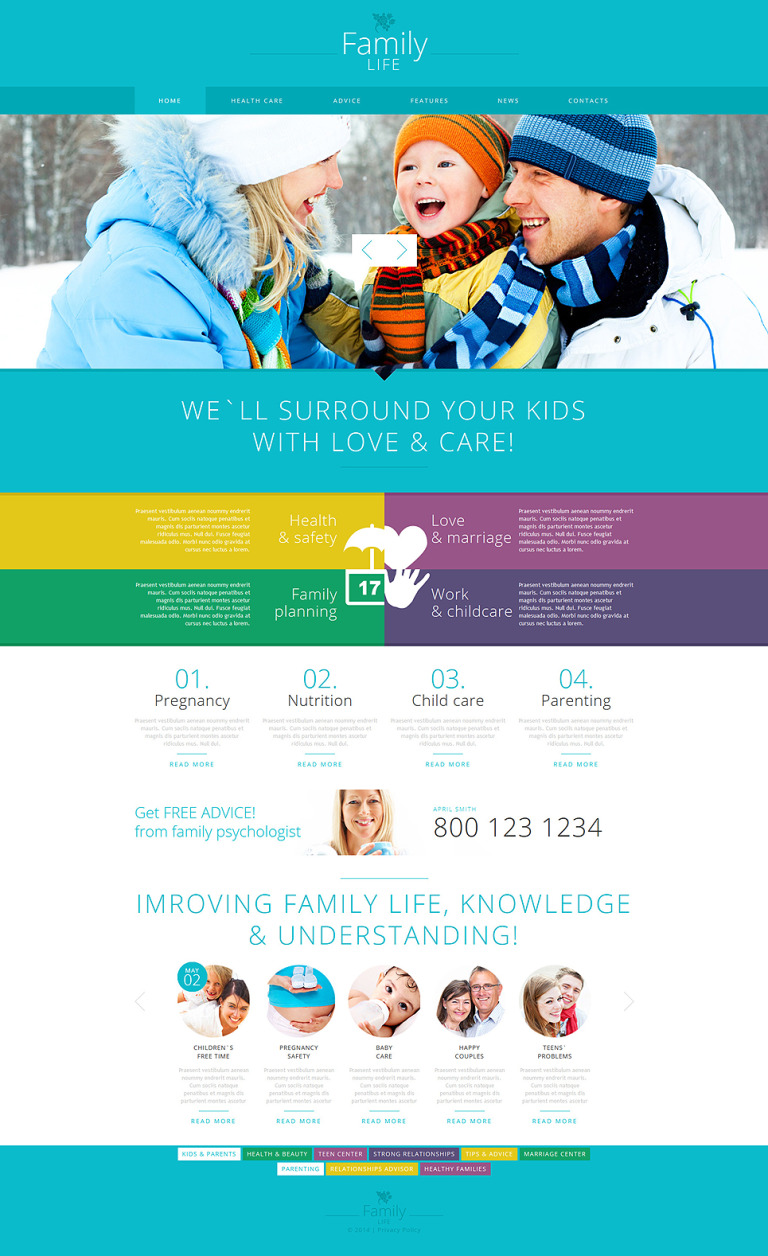 Family Center Responsive Joomla Template New Screenshots BIG