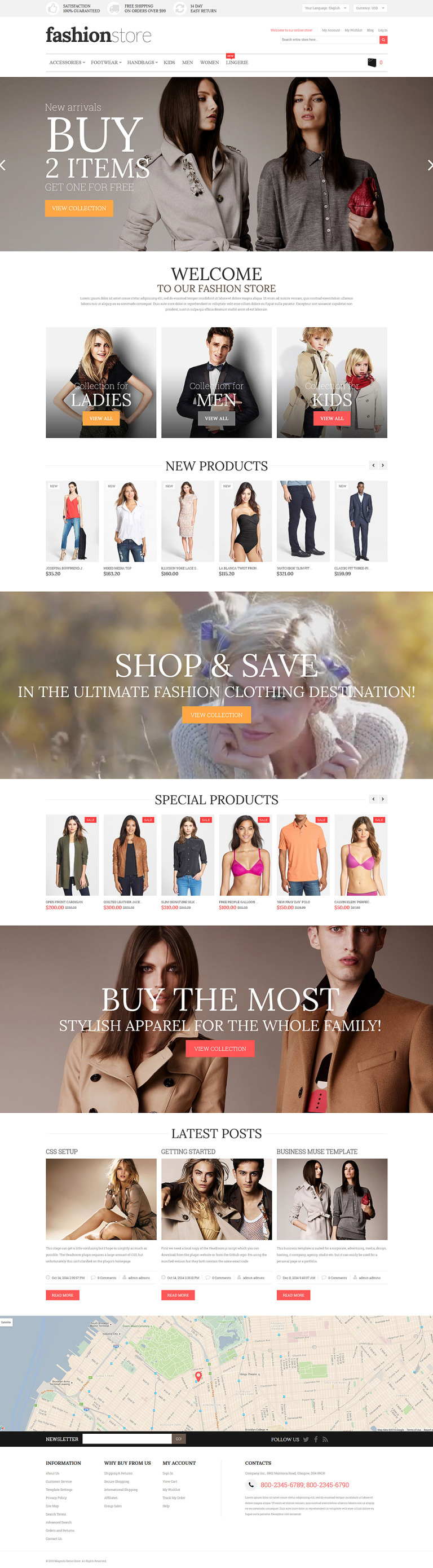 Fashion Store Magento Theme New Screenshots BIG