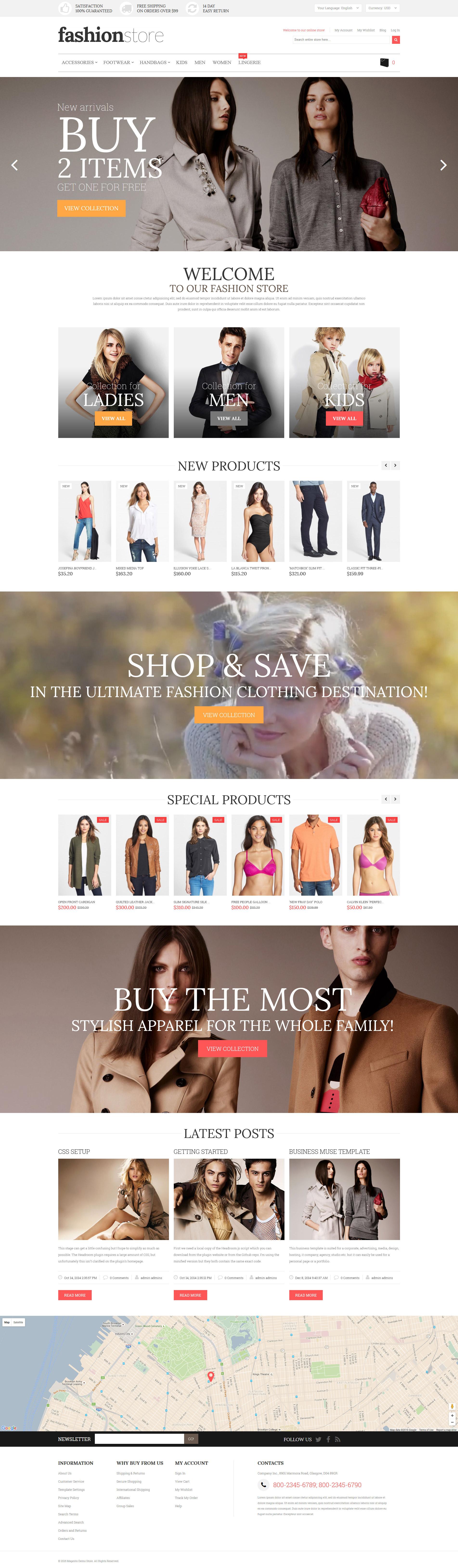 Fashion Store Magento Theme - screenshot