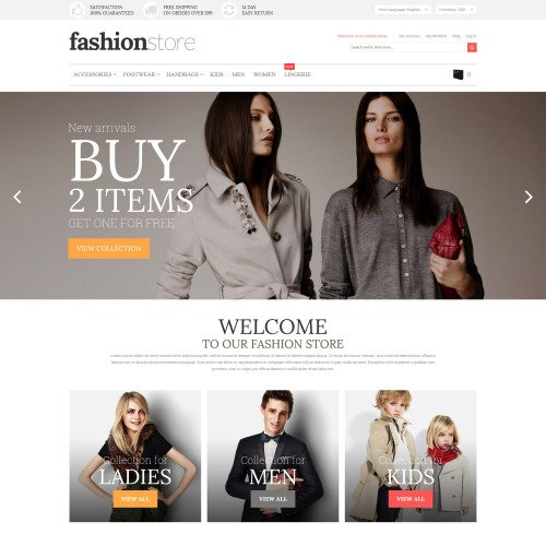 Fashion Store - Magento Template based on Bootstrap