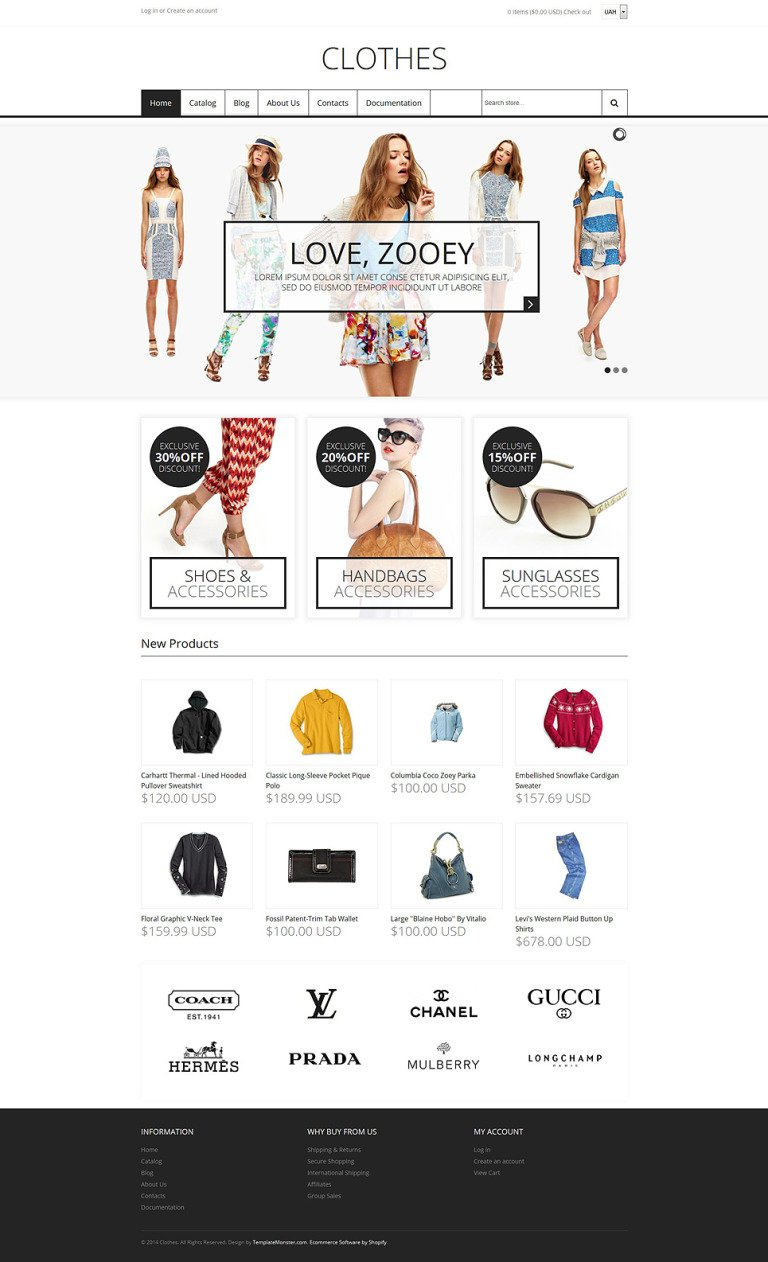 Fashion Store Responsive Shopify Theme New Screenshots BIG