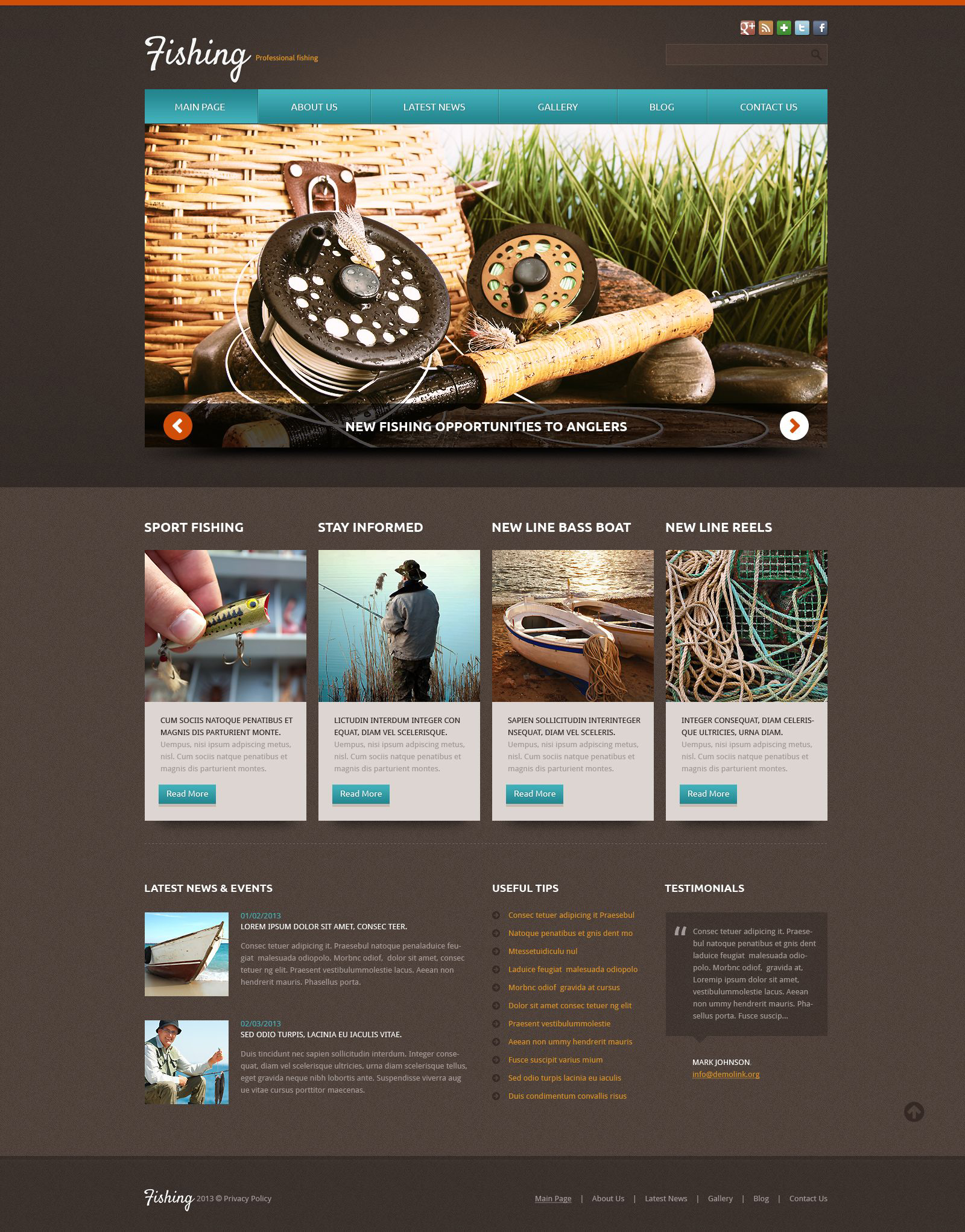Fishing Templates. fishing joomla templates. free website template ...