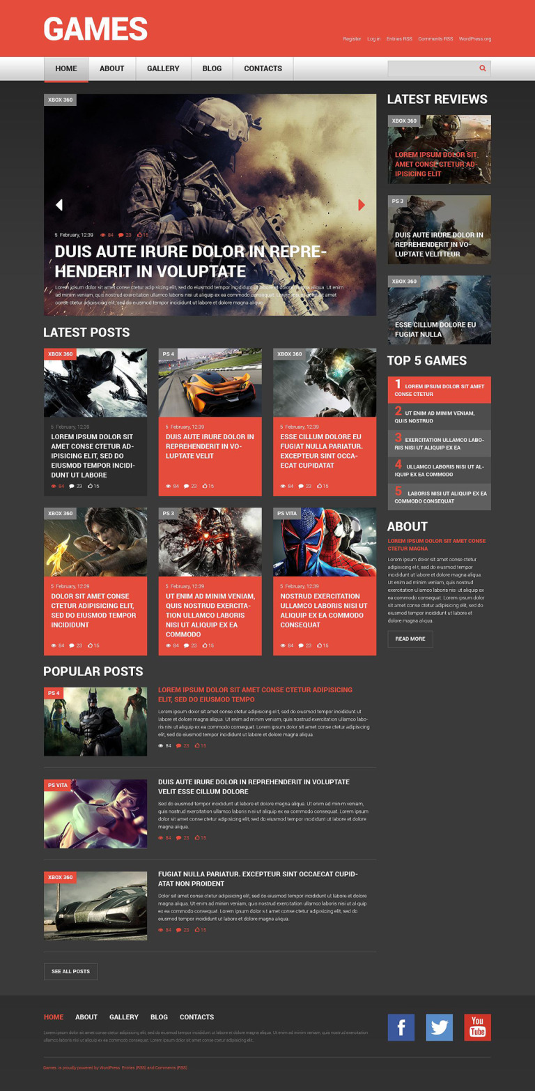 Game Portal Responsive WordPress Theme New Screenshots BIG