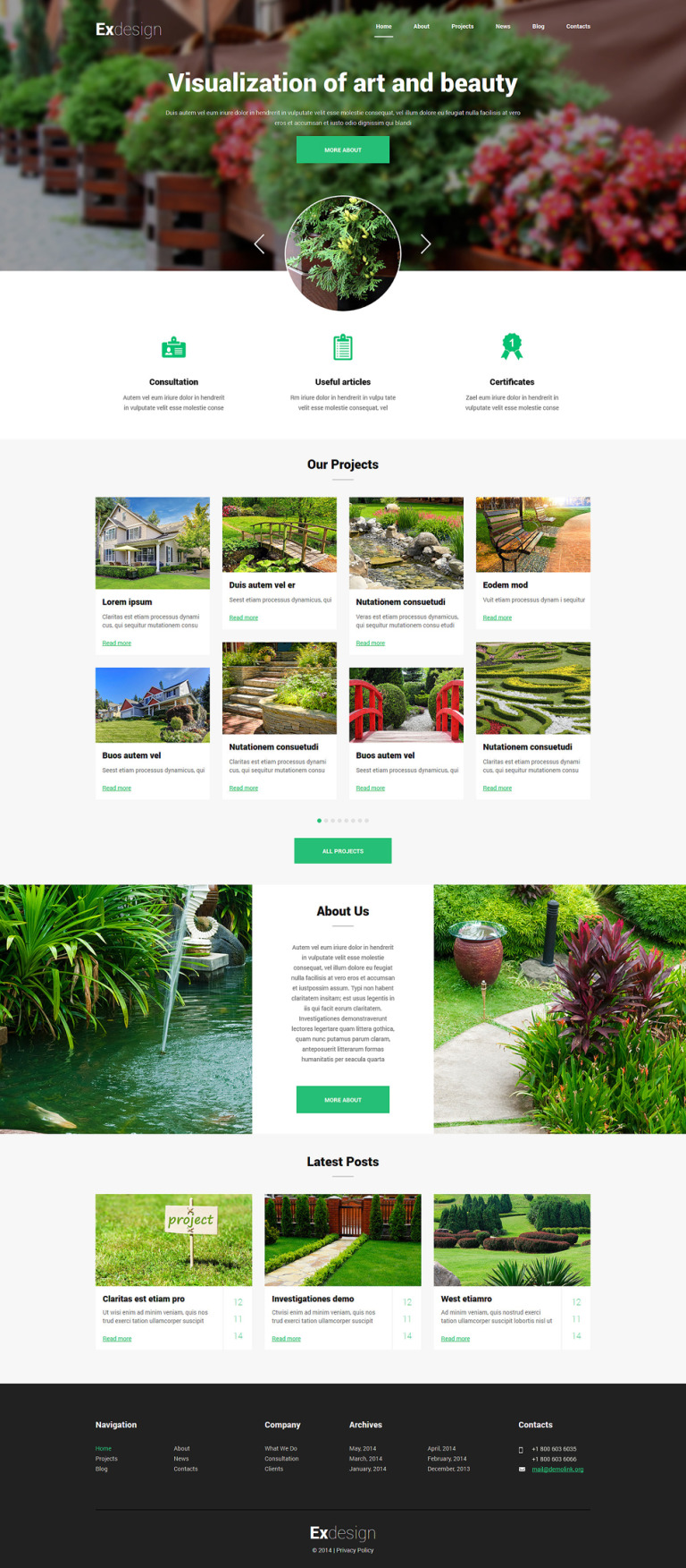 Garden Design Responsive Joomla Template New Screenshots BIG