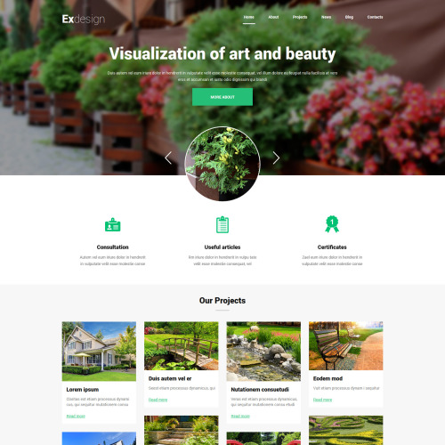 Ex Design  - Joomla! Template based on Bootstrap