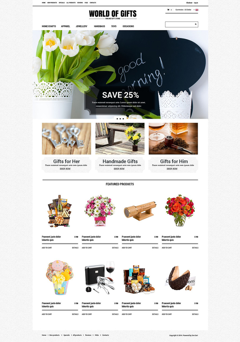 Gift Shop ZenCart Template New Screenshots BIG