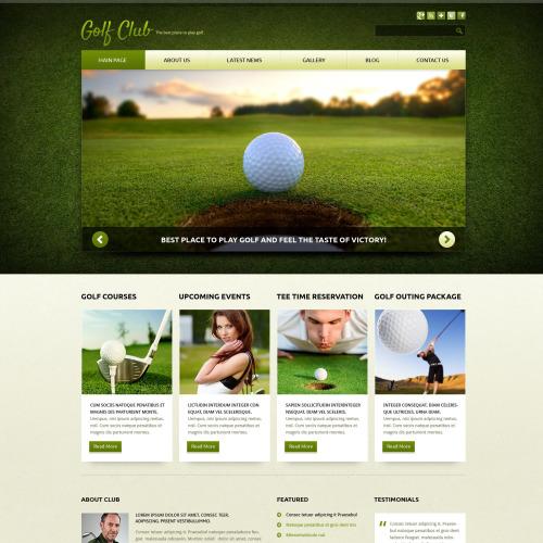 Golf Club - Joomla! Template based on Bootstrap