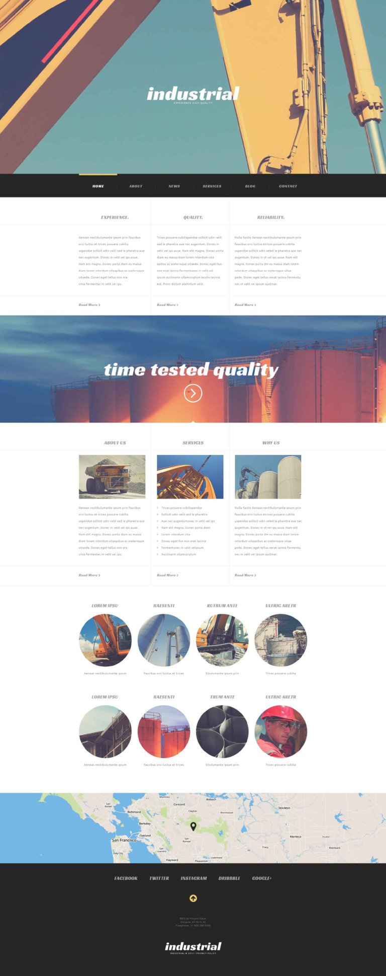Industrial Construction WordPress Theme New Screenshots BIG