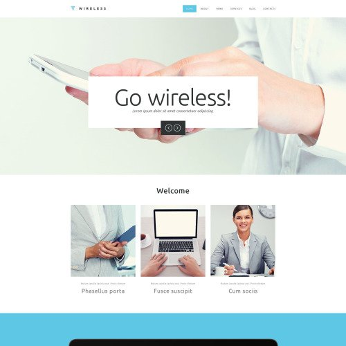 Internet - Responsive Website Template