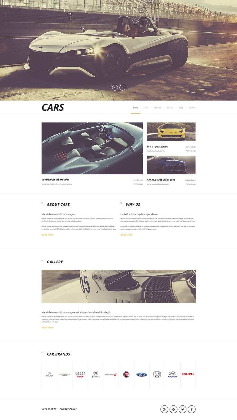 Luxurious Automobiles Joomla Template New Screenshots BIG