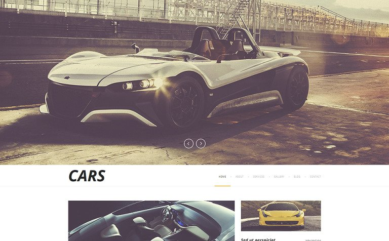 Luxurious Automobiles Joomla Template