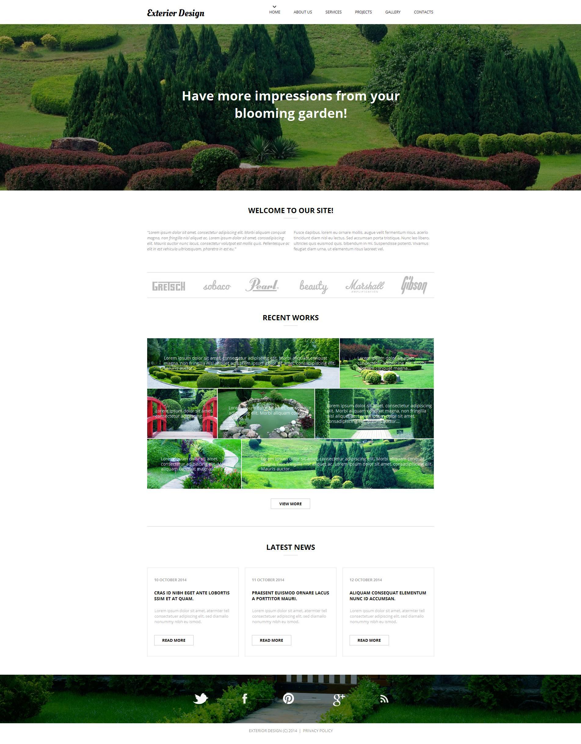 Luxusní Moto CMS HTML šablona na téma Design zahrady #52193