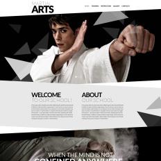 Martial Arts Parallax Website Template