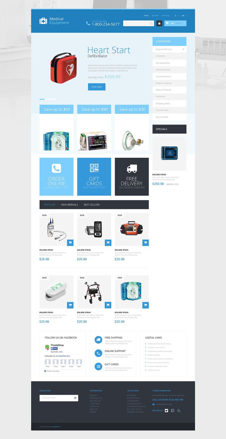 Medical Care PrestaShop Theme New Screenshots BIG