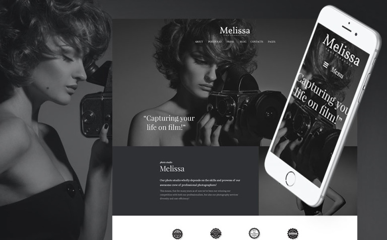 Melissa - Art & Photography & Photographer Portfolio & Photo Studio Responsive WordPress Theme WordPress Theme New Screenshots BIG