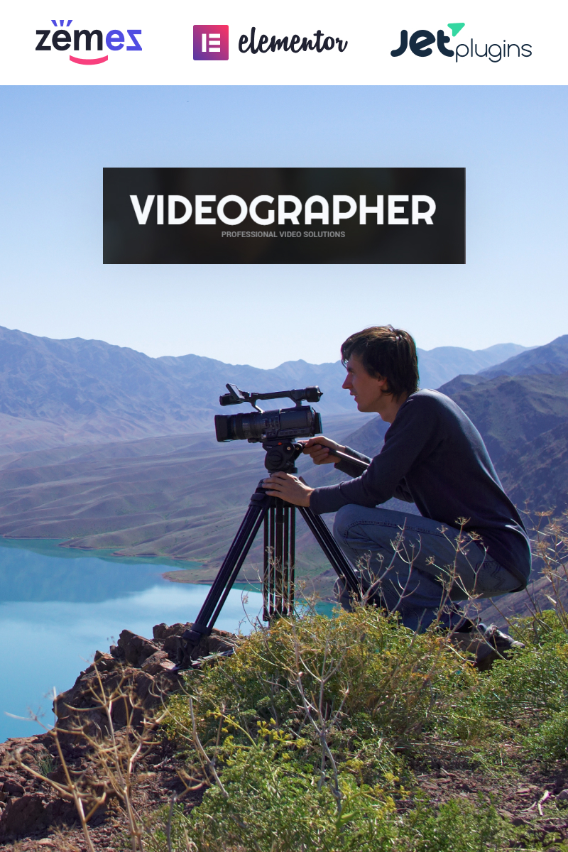 "Modello WordPress Responsive #52175 ""Videographer Portfolio"""