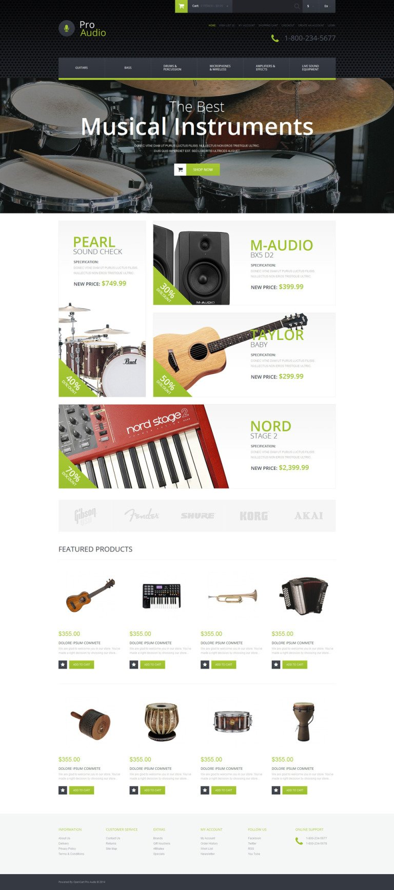 Music Gear OpenCart Template New Screenshots BIG