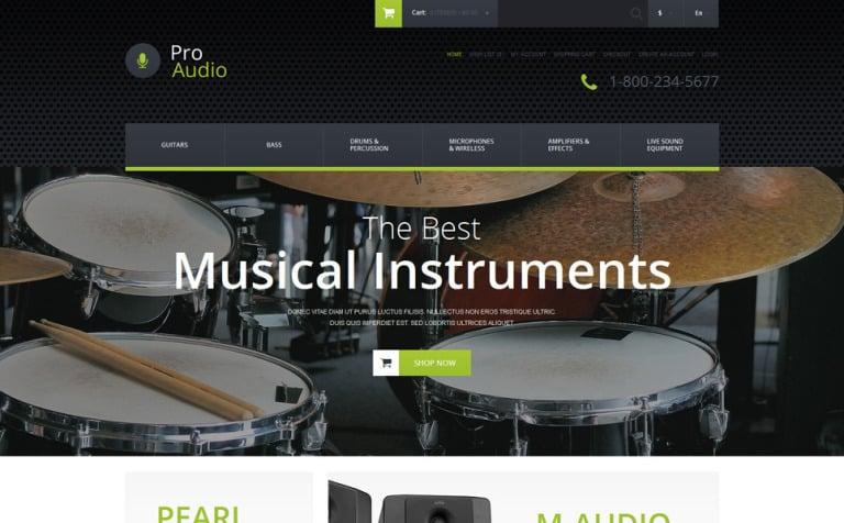 Music Gear OpenCart Template