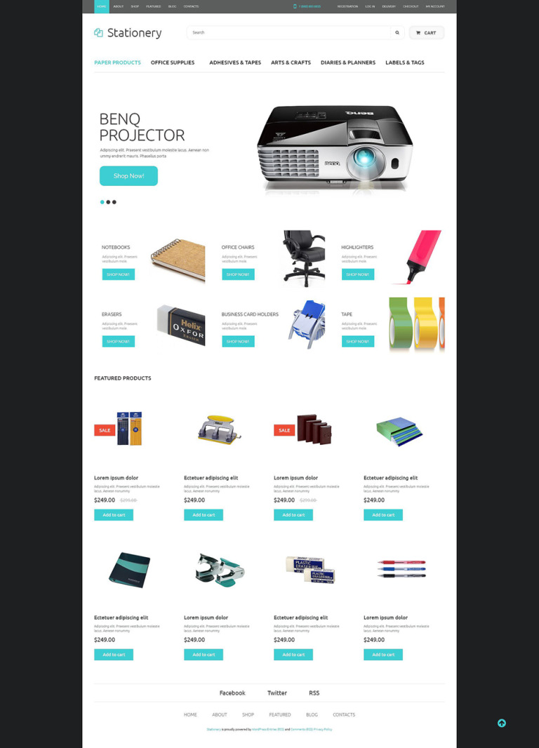 Office Supplies WooCommerce Theme New Screenshots BIG