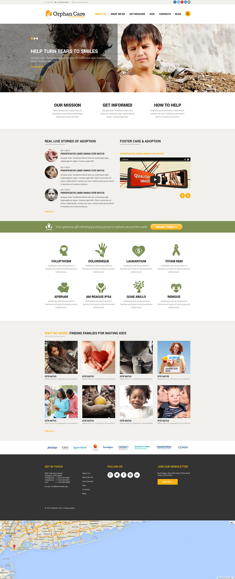 Orphanage Donations Joomla Template New Screenshots BIG