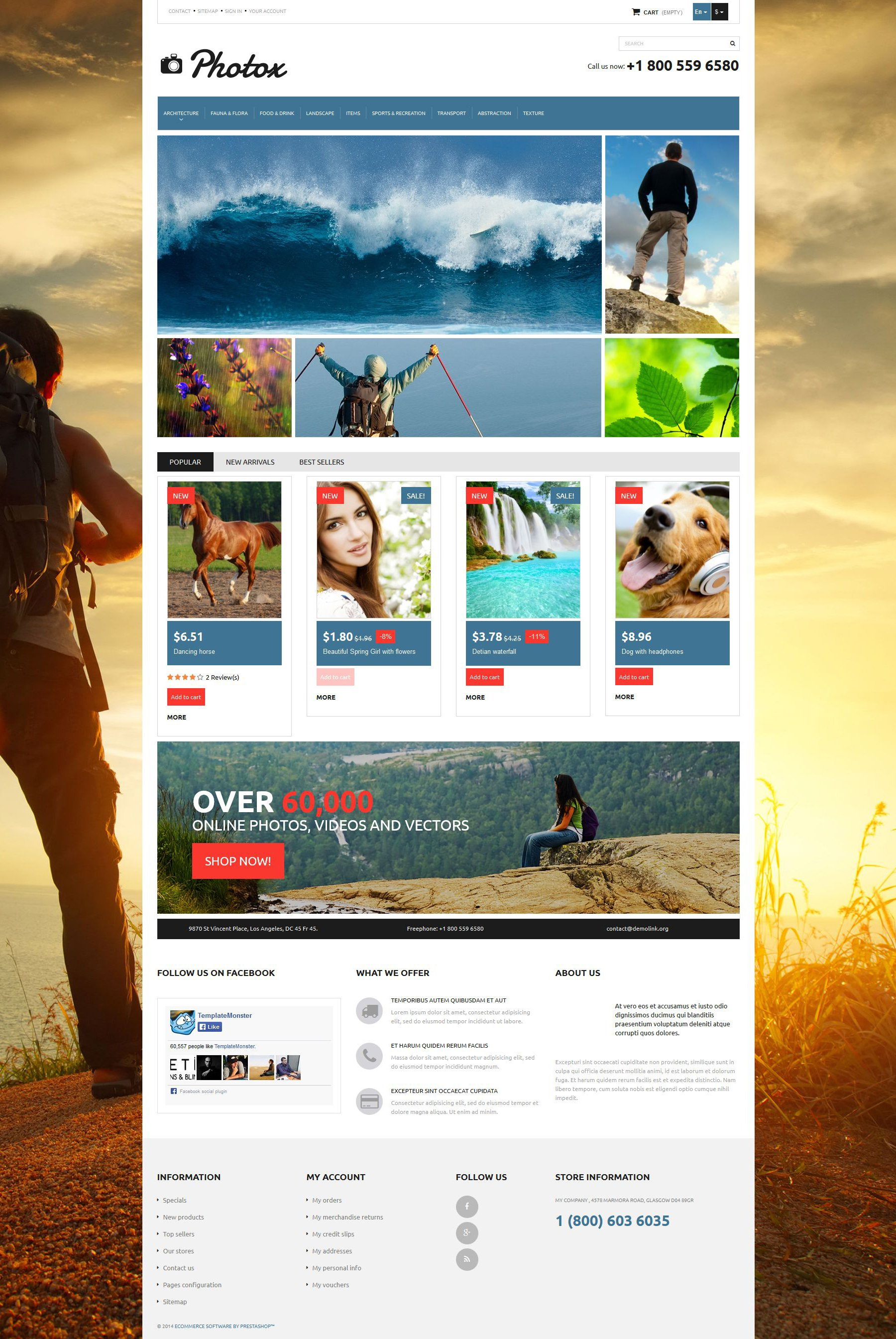 Photo and Video PrestaShop Theme - screenshot