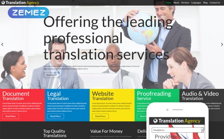 Plantilla Joomla #52101 para Sitio de Agenciad de traducción