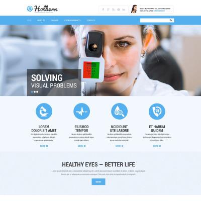 Responsive Plantilla Web #52118 para Sitio de  para Sitio de Optometristas