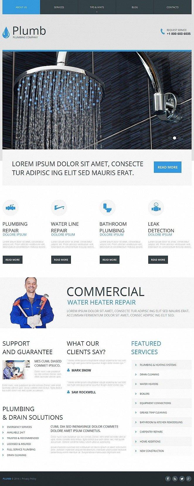 Plumbing Moto CMS HTML Template New Screenshots BIG