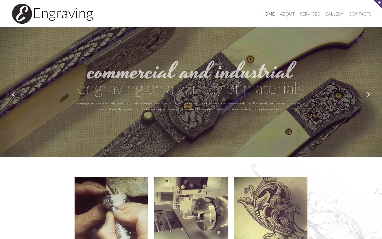 """Print Shop Responsive Website Template"" Responsive Website template №52189"