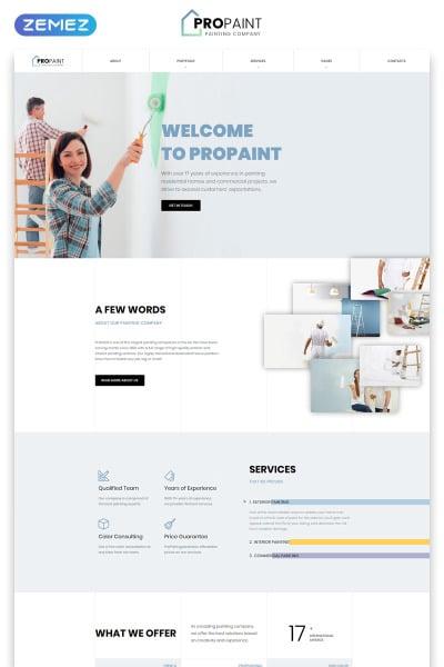Flexível template Web №52119 para Sites de Empresa de Pintura