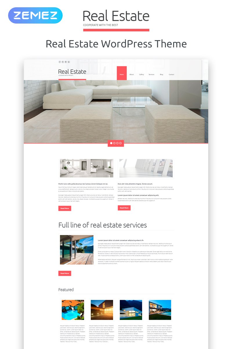 Real Estate Agency Responsive WordPress Theme - screenshot