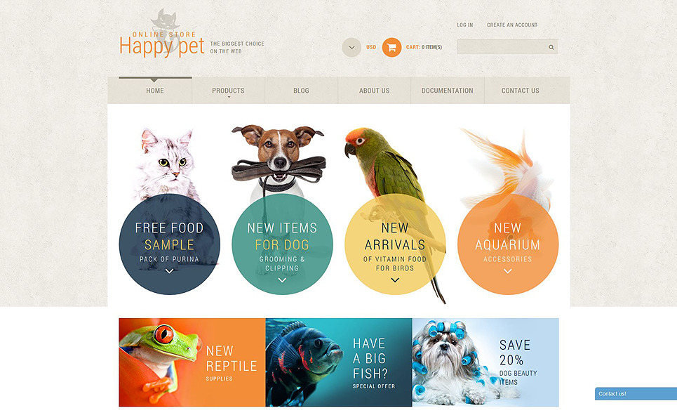 Responsive Pet Shop Templates Shopify Teması New Screenshots BIG