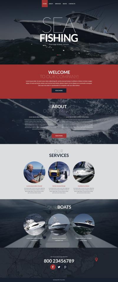 Responsive Website Vorlage für Angeln