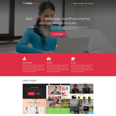 Responsives WordPress Theme für Designstudio
