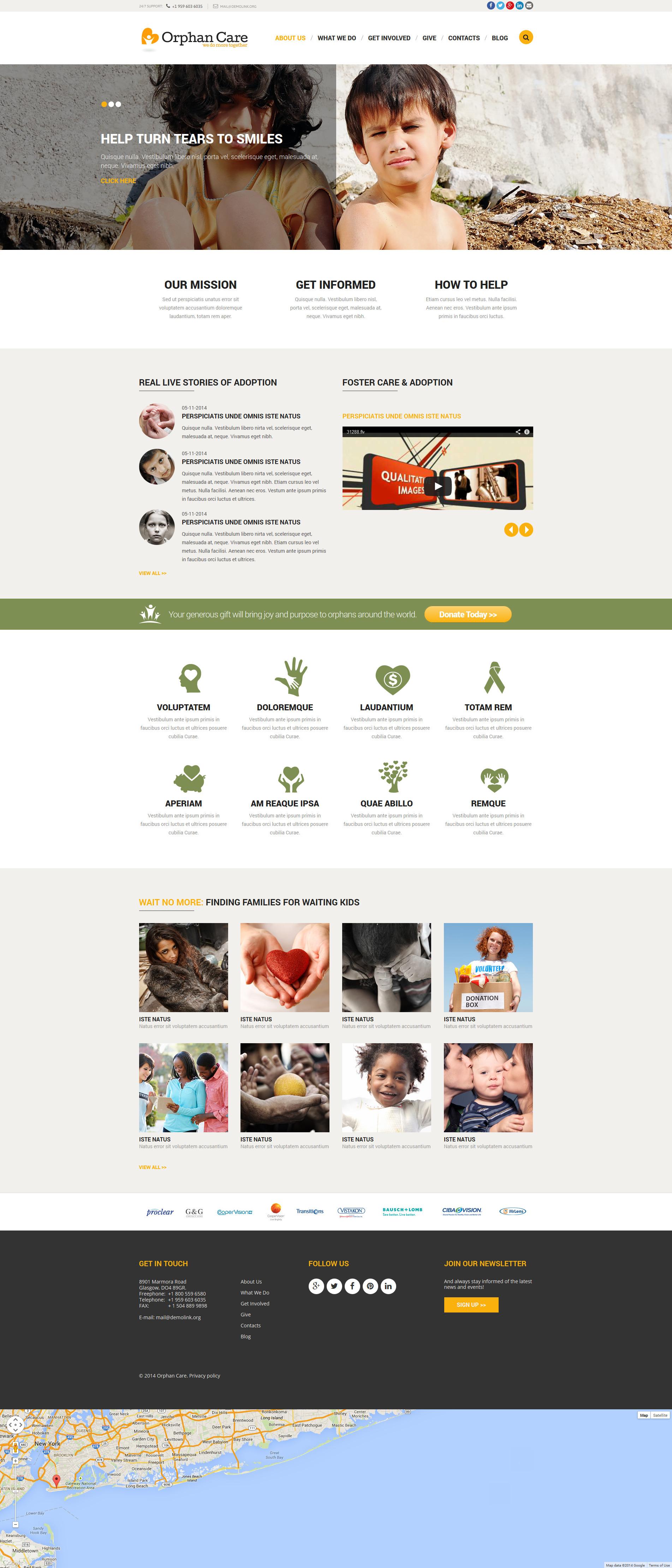 Responsywny szablon Joomla Orphanage Donations #52178