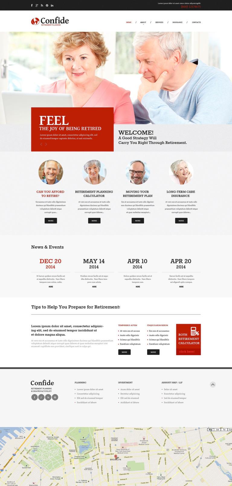 Retirement Planning Responsive Website Template New Screenshots BIG