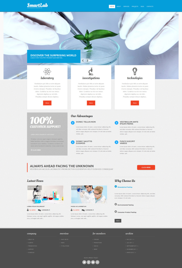 Science Lab Responsive Drupal Template New Screenshots BIG
