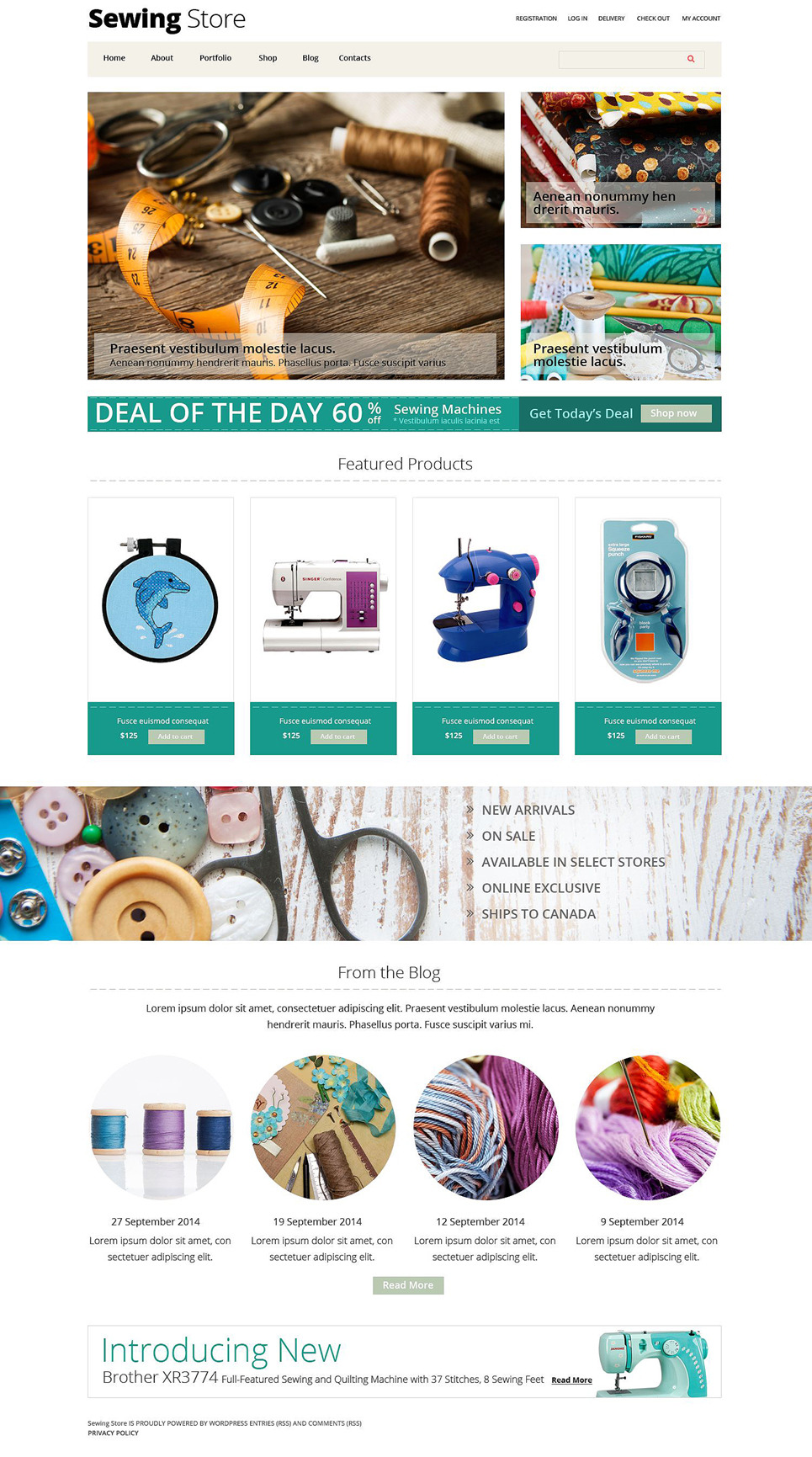 Sewing Store WooCommerce Theme New Screenshots BIG